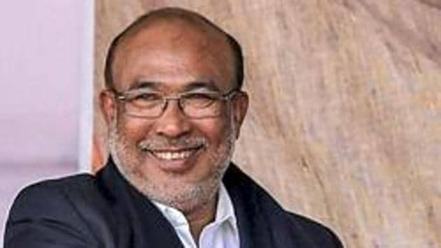 Manipur Chief Minister N Biren Singh made the announcement about the Imphal-Mandalay bus service in the Legislative Assembly on Tuesday.(PTI File Photo)