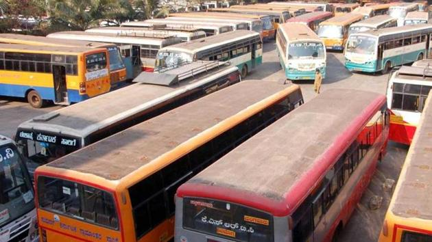 Bus service in Karnataka is likely to be hit on Thursday(HT Photo)