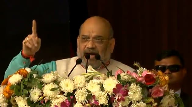 Amit Shah on Thursday attended a public meeting at Indira Gandhi Park in state capital Itanagar(Photo: BJP4India/ Twitter)