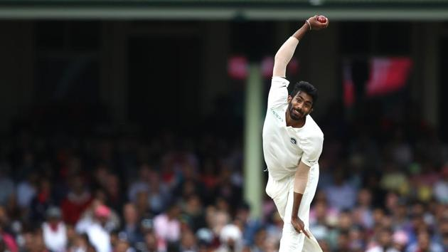 Jasprit Bumrah of India bowls during day four of the Fourth Test match in the series between Australia and India at Sydney Cricket Ground on January 06, 2019 in Sydney, Australia.(Getty Images)