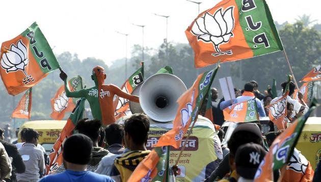 A Delhi BJP representative said the party had not specifically hired any firm and that the videos were made after it was shown a sample.(HT Representative PHOTO)