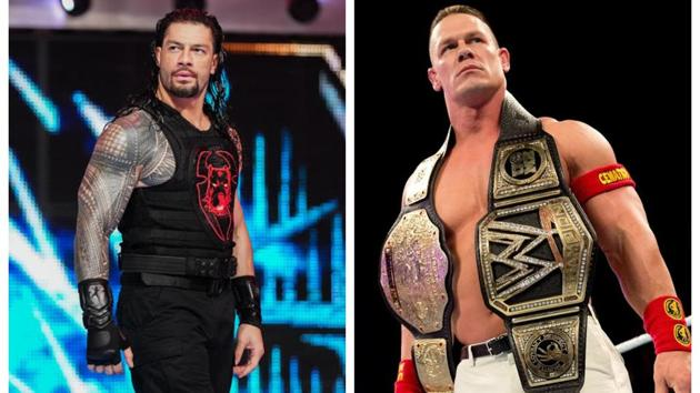 Roman Reigns and John Cena.(WWE)