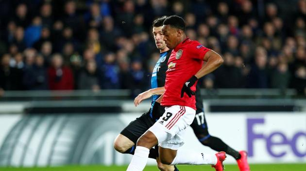 Soccer Football - Europa League - Round of 32 First Leg - Club Brugge v Manchester United - Jan Breydel Stadium, Bruges, Belgium - February 20, 2020 Manchester United's Anthony Martial in action REUTERS/Francois Lenoir(REUTERS)