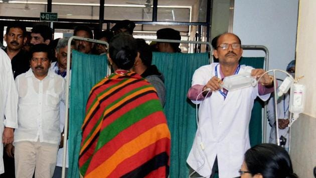 Employees at AIIMS Bhubaneswar were asked to write at least 30 per cent of their notes and drafts in Hindi, write at least 55 per cent of all correspondence in Hindi and fill up all bi-lingual forms used in offices in Hindi. (Image used for representation).(PTI PHOTO.)