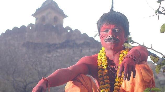 Rajpal Yadav in a still from Bhool Bhulaiyaa.