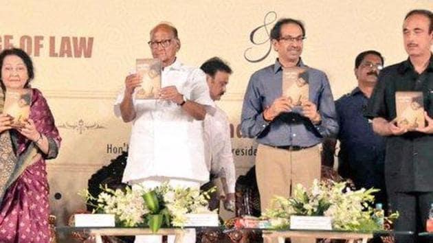 Maharashtra CM Uddhav Thackeray at a book release function in Mumbai. (Photo: @PawarSpeaks)
