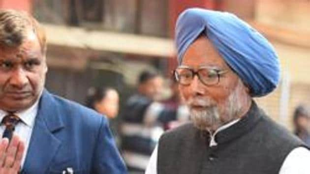 """Manmohan Singh was speaking at a book launch on selections from Pandit Jawaharlal Nehru's speeches, essays and letters from pre- and post-Independence years in a book titled """"Bharat Mata''(Raj K Raj/HT PHOTO)"""