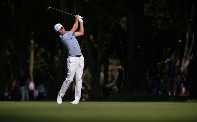 Justin Thomas plays a shot the WGC - Mexico Championship golf tournament.(USA TODAY Sports)
