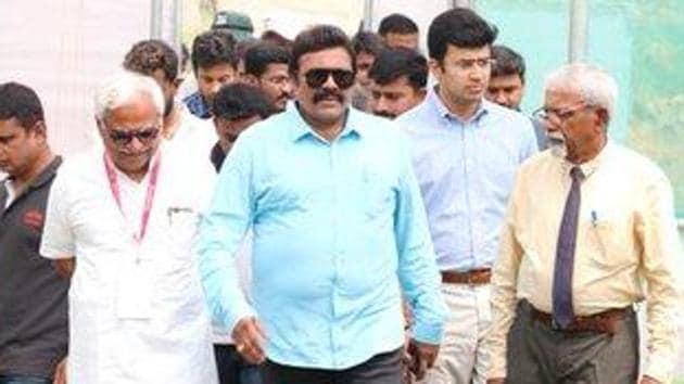 Karnataka Agriculture Minister B C Patil. (Photo @kourvabcpatil)