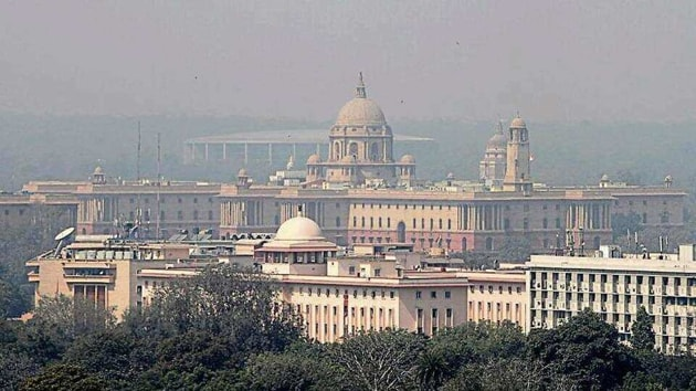 The central vista, consisting of some of the most iconic buildings of Delhi, came into being when the British capital was shifted to Delhi from Calcutta in 1911.(HT Photo)