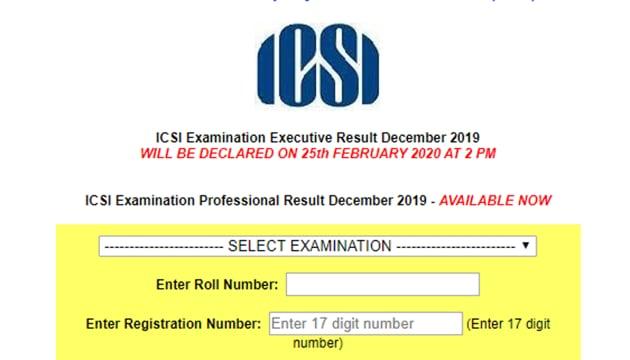 ICSI CS Professional Result 2019 out(ICSI)