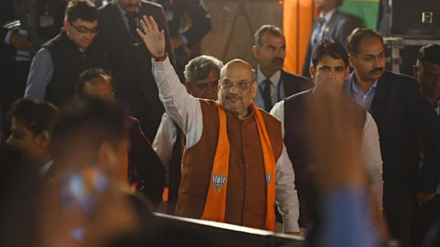Union Home Minister Amit Shah called for a third meeting with Delhi police and his ministry officials on late Tuesday evening.(File photo: Sanchit Khanna/ Hindustan Times)