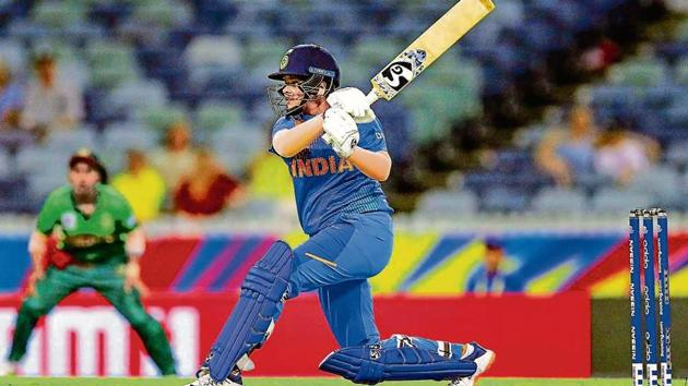 Young Shafali Verma ensured India did not miss the services of the injured Smriti Mandhana with a quick 39 at the start of the innings.(PTI)