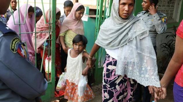 Thousands are suspected to have been killed in Myanmar during the 2017 Rohingya crackdown and refugees brought reports of widespread rape and arson by soldiers and ethnic Rakhine mobs. Feb. 25, 2020.(REUTERS)