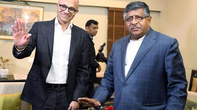 Data sovereignty and localisation have been a matter of concern and major technology companies which are mostly based out of India and store data outside the country. Feb. 26, 2020.(ANI)