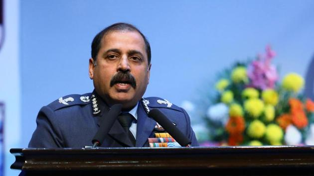 Chief of the Air Staff Air Chief Marshal RKS Bhadauria addressing a programme organised to mark Armed Forces Veterans' Day in New Delhi.(File photo: ANI)