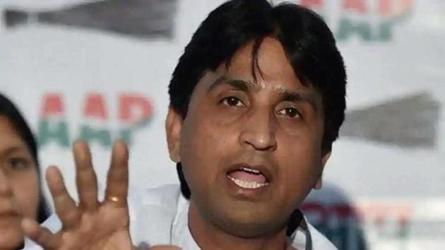 Kumar Vishvas said asked the Home Ministry to take action against AAP leader Tahir Hussain after media reports showed stacks of firearms at his house.(PTI file photo)