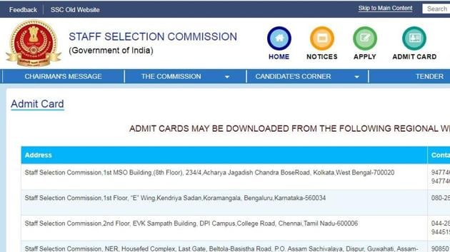 The Staff Selection Commission (SSC) has released the application status and admit card for Combined Graduate Level (CGL) Examination 2019 for most of the regions.(ssc.nic.in)