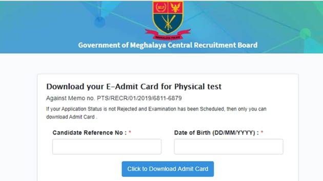 (Meghalaya Police Recruitment Board)