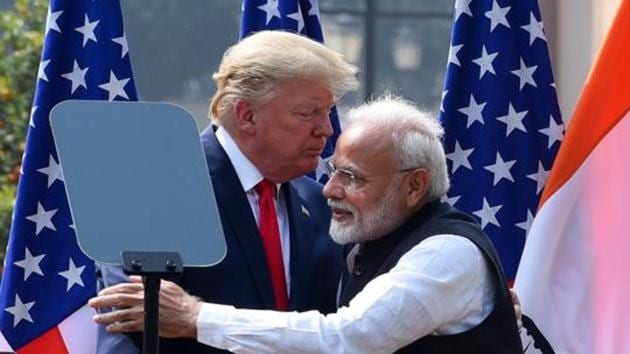 Donald Trump addressed a massive rally in Ahmedabad, visited Agra and held official meetings in New Delhi during his India trip.(Mohd Zakir/HT FILE PHOTO)