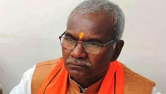 Kameshwar Chaupal had laid the foundation stone for Ram temple in Ayodhya 30 years ago.(HT Photo)