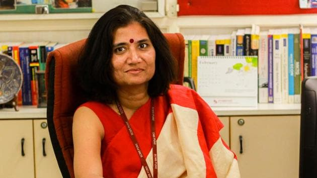 Adya Sharma, director, Symbiosis Centre for Management Studies, Pune(HT PHOTO)
