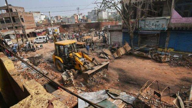 Communal violence in Delhi has taken at least 42 lives since Sunday.((HT Photo/Amal KS)