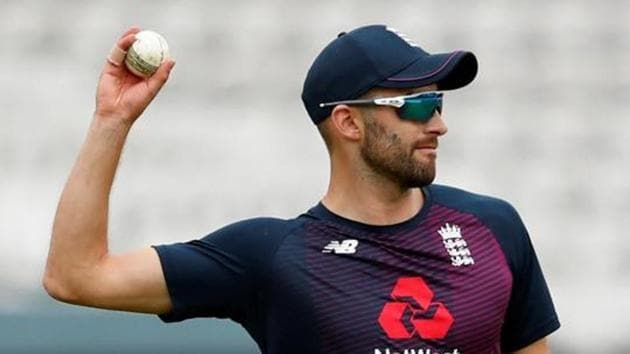 England's Mark Wood during nets.(Action Images via Reuters)