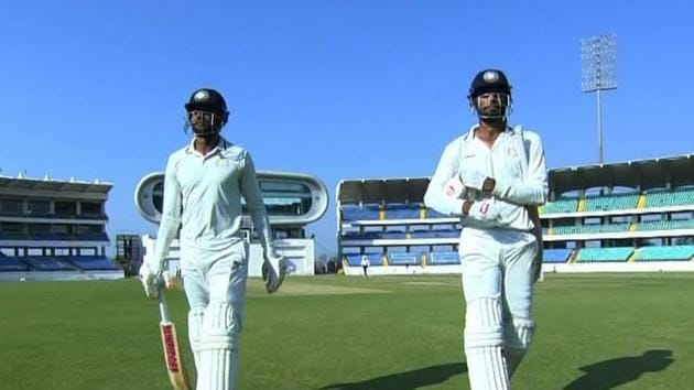 Saurashtra reached 217/5 at stumps on day 1 against Gujarat(BCCI)