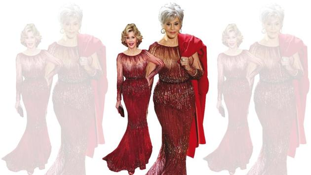 Jane Fonda set an example by upcycling her Eli Saab dress from six years ago at the 2020 Oscars