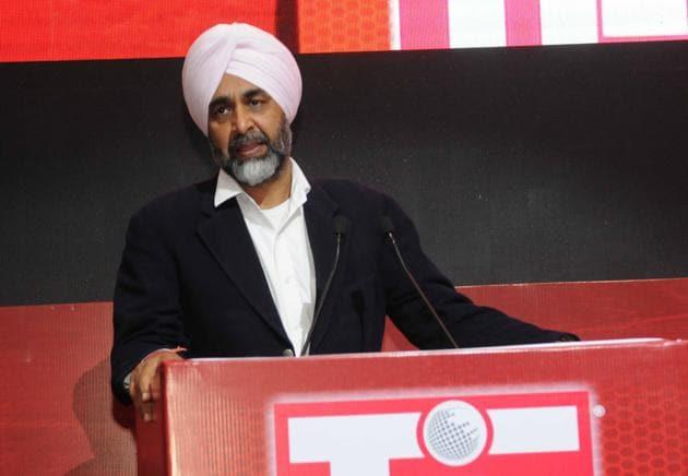 Punjab finance minister Manpreet Singh Badal(Keshav Singh/HT)