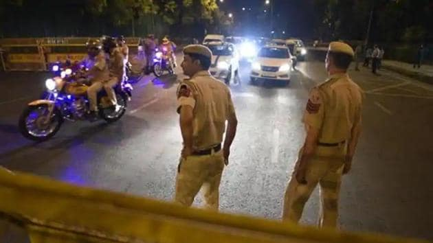 The Delhi Police has dismissed the reports of tension in southeast and west districts that were being circulated on social media on Sunday.(Sanchit Khanna/HT File Photo)