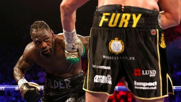 Deontay Wilder in action against Tyson Fury.(REUTERS)