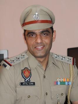 Suspended Punjab Police DSP Atul Soni(HT PHOTO)