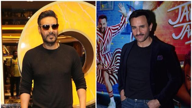 Ajay Devgn refuted rumours that he had a fallout with Saif Ali Khan.(IANS)