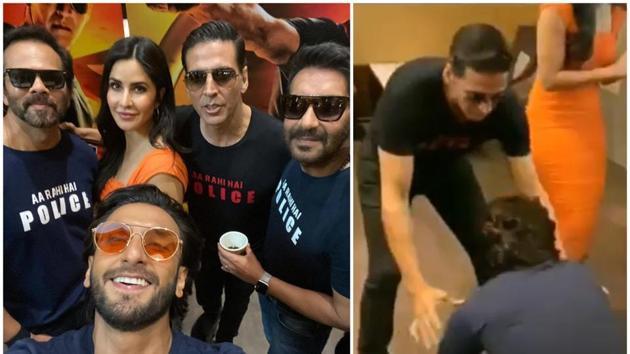 Akshay Kumar teased Ranveer Singh for coming 40 minutes late to the Sooryavanshi trailer launch.