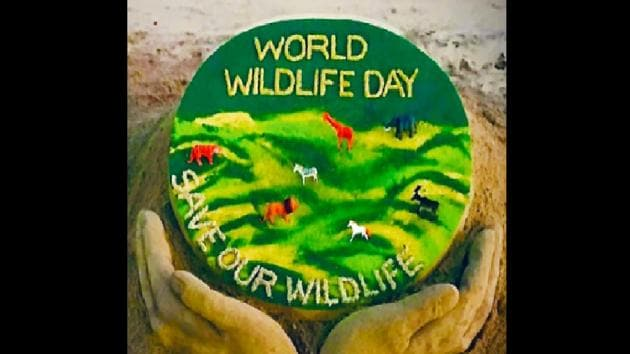 This year's message for World Wildlife Day is sustaining all life on Earth.(Twitter/@sudarsansand)