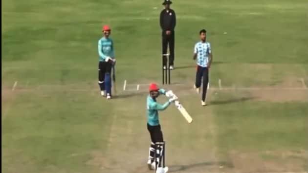 Rashid Khan playing a stroke(Twitter/screengrab)