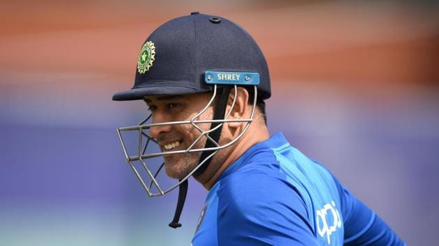 MANCHESTER, ENGLAND - JULY 08: MS Dhoni of India prepares to bat during a net session at Old Trafford on July 08, 2019 in Manchester, England. (Photo by Gareth Copley/Getty Images)(Getty Images)