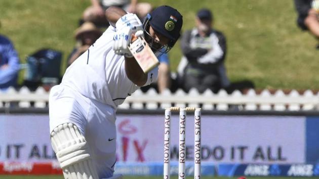 India's Rishabh Pant bats against New Zealand.(AP)
