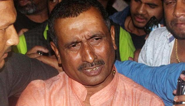 Kuldeep Singh Sengar (in the photo), his brother and three aides were convicted for culpable homicide not amounting to murder (Section 304), criminal conspiracy (120B), wrongful restraint (341), voluntarily causing hurt (323) and relevant sections of Arms Act of the Indian Penal Code(ANI photo)