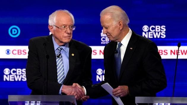 Democratic 2020 U.S. presidential hopefuls Senator Bernie Sanders (left) and former Vice President Joe Biden (right) have contrasting views on India.(REUTERS)