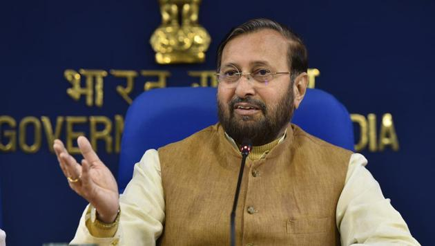 Parkash Javadekar, the Union Minister of Environment, Forest and Climate Change was speaking at an International Women's Day event in Pune.(Sanjeev Verma/HT file photo)
