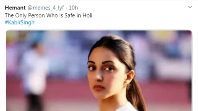 Holi 2020 memes have left people in splits.(Twitter/Hemant)