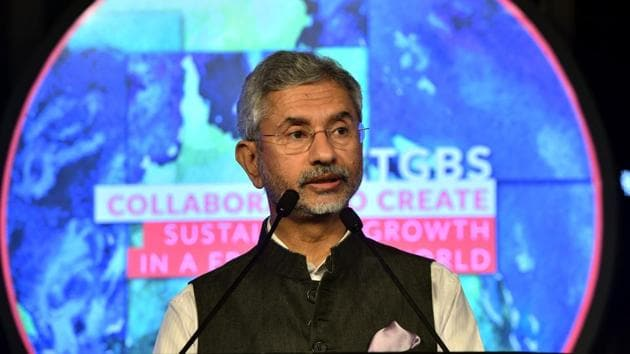 External Affairs Minister S Jaishankar speaks at an event in New Delhi, on March 7.(PTI Photo)