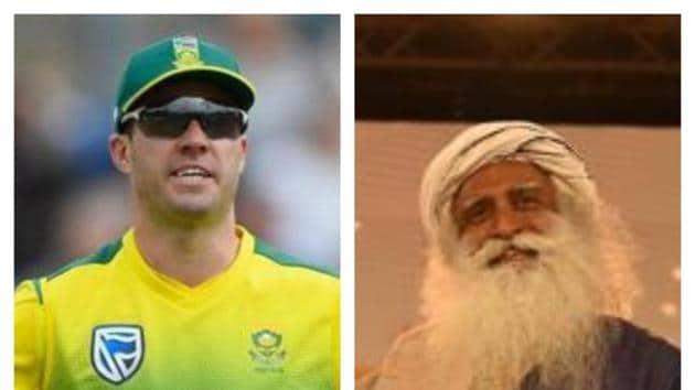 AB de Villiers, Sadhguru(HT Collage)