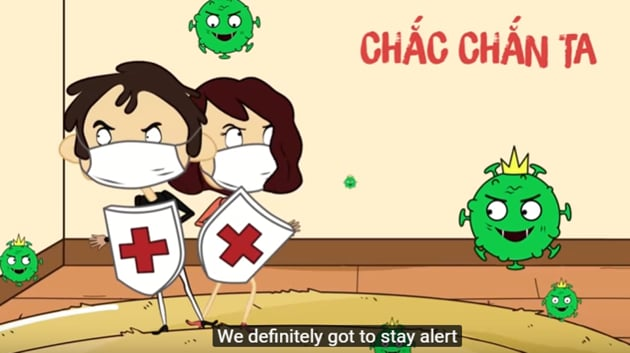 Image shows a screengrab from Vietnamese Health Department PSA video(YouTube/MIN OFFICIAL)
