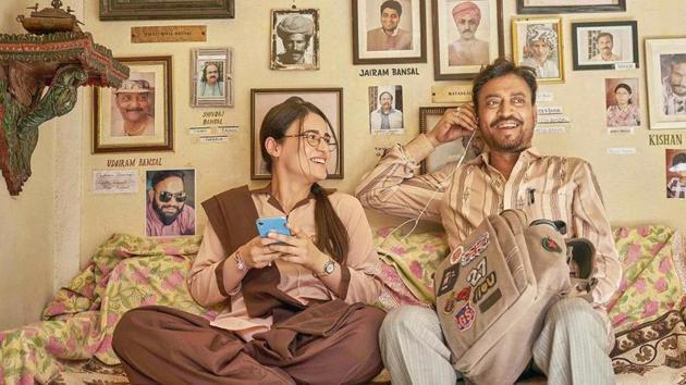 Irrfan Khan and Radhika Madan in Angrezi Medium.