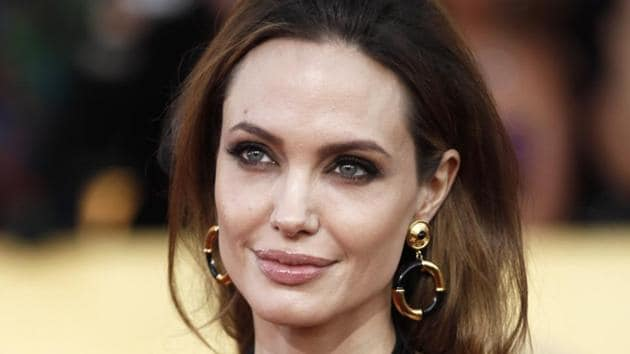 Angelina Jolie at the 18th Annual Screen Actors Guild Awards in Los Angeles.(AP)
