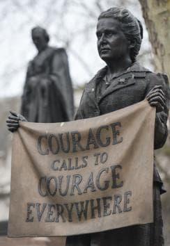 The right message: A statue in London of suffragist and feminist icon Millicent Fawcett.(Arthur Widak/NurPhoto via Getty Images)